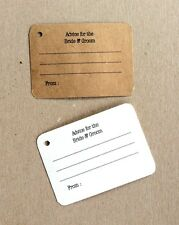 Advice for the bride and groom tags, mini cards, 40 Wedding cards, Personalized