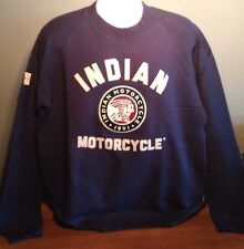 Genuine Indian Motorcycle Blue IMC Raglan Sweatshirt Embroidered and Applique