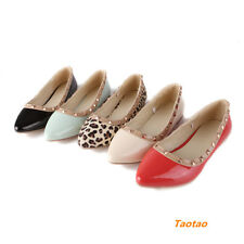 Women's Sweet Flats Heels Rivet Pointed Comfort Fashion Shoes AU ALL Size H413