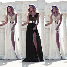 2015 New Sexy Lace Wedding Gowns Chiffon Long Prom Evening/Party Dresses