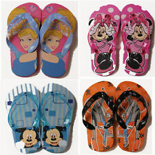Kids Disney Flip Flops Sandals Pool Shoes Sizes 7-13 UK NEW 1 pair FREE POST