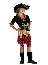 Girls Pirate New Fancy Dress Outfit Costume Buccaneer Sweetie Ages 3-13 Yrs Kids