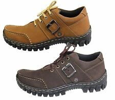 MENS BOYS SUEDE NUBUCK LEATHER COMFORT BOOTS CASUAL LACE UP HIKING WALKING SHOES