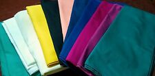 108 INCH ROUND COTTON TWILL TABLECLOTH  IN 20 solid COLOR CHOICE