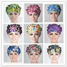 Classic Pattern Printing Scrub Cap Bouffant Medical Surgical Surgery Hat/Cap