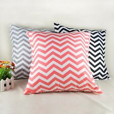 1pcs waved Striped Pillowcase Linen Decals Cushion Cover Nylon pillow case sofa