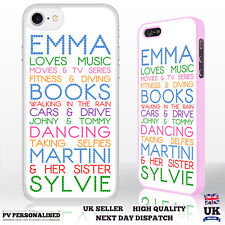 Personalised Phone Case 'Your Name Loves' for iPhone Samsung Sony HTC LG Range