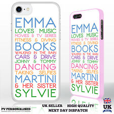 Personalised Custom Printed Phone Case Text 'Your Name Loves' Phone Case Cover