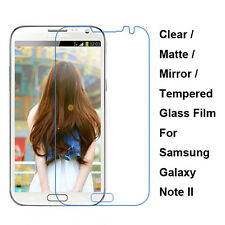 Tempered Glass/Clear/Matte/Mirror Screen Protector For Galaxy Note 2 II N7100