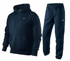 Nike Junior Boys Fleece Hooded Sports Jogging Tracksuit Top & Bottom