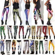 New Women Colorful Galaxy Print Leggings Stretchy Sexy Jeggings Pencil Pants