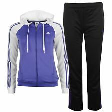 Adidas Young Knit 2 Piece TrackSuit Womens Purple/Wht Bottoms Pants Top Jacket