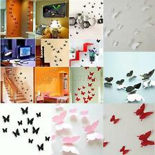 Sticker Art Design Decal Wall Stickers Home Room Decorations 3D Butterfly A86