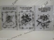Acrylic Stamp Friends Fairy A5 Sheet 3 Designs to choose Cardmaking Scrapbooking