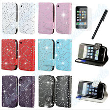 New Flip Wallet Leather Case Cover For Apple iPhone 3G 3GS Free Screen Protector