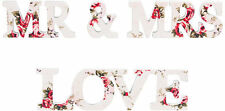 Wooden Mr & Mrs Letters Floral Rose/ Love Letters Wedding TABLE TOP