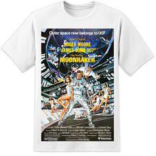 James Bond Moonraker Movie Poster T Shirt (S-3XL) Retro 007 Roger Moore