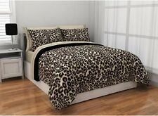 Cheetah Bedding Set Reversible Exotic Bed in Bag Sheets Animal Print TWIN QUEEN