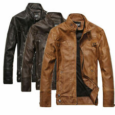 2015 NEW Fashion Men's Leather Motorcycle Coats Jackets Washed Leather Coat
