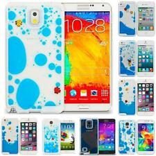 3D Water Fish Tank Cute Swimming Liquid Moving Cover Case Sea Blue for Phones