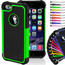 Hard Shockproof Case Cover for iphone 4s 5s 6 FREE Screen Protector