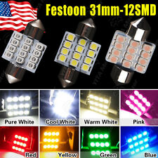LOT 100 X Multi-Color 31mm 12 LED SMD Festoon DOME/MAP Interior Car Lights Bulb