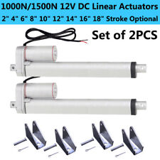 2 Dual Heavy Duty DC 12V Linear Actuator 220lbs Max Lift for Car Boat 14mm/s Spd