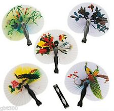 24-96 Oriental Folding Fans Tea Party Favor Chinese Paper Hand Wedding Lot Asian