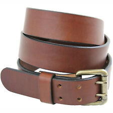 American Made 1 1/2 Medium Brown Bridle Leather Belt Double Hole