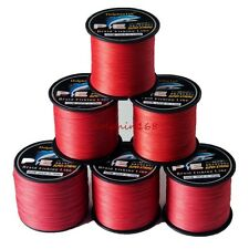 PE 6-100LB 100m 200m 300m 500m 1000m Dyneema 4Braid Sea Fishing Line Spectra Red