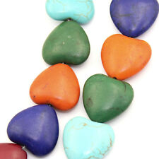 "Wholesale Strand Turquoise Loose Beads Love Heart Mixed 20x19mm(6/8""x6/8"")"