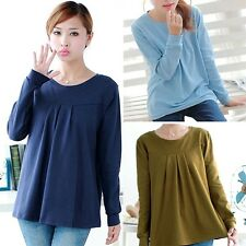 New Casual Pregnant Women Tops Lady's  Cotton Long-sleeved T-shirt Shirt  Gifts