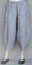 CHALET USA Flax Linen RENEE PANT  Balloon Panel Crop Hem Pants S M L XL  STONE
