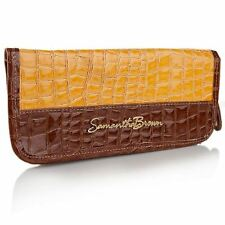 Samantha Brown Croco-Embossed Passport Wallet - YELLOW - BRAND NEW