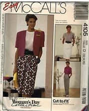 4105 Vintage McCalls SEWING Pattern Misses Easy Skirt Pants Women's Day OOP SEW