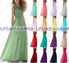 New Design Long Chiffon Formal Lace Evening BallGown Party Prom Bridesmaid Dress