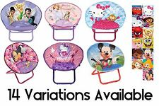 Folding Saucer Chair Fabric Children's Tale Furniture Multiple Variations NEW