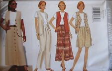 Vintage Butterick SEWING Pattern 4505 Misses Vest Skirt Top UNCUT OOP SEW FF NEW