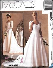 UNCUT Vintage McCalls Sewing Pattern Misses Wedding Bridal Gown Dress 8559 OOP