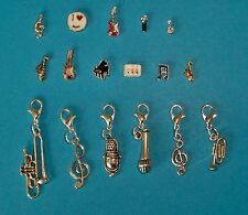 Memory Glass Living Locket Floating Charms Clips Dangles Music Guitar Frozen