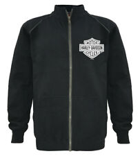 Harley-Davidson Men's Track Jacket Bar & Shield Black Zip Warm Up 30296616