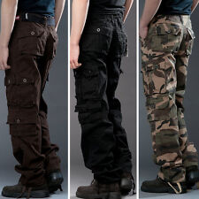 Hot Men's Casual Military Army Cargo Camo Combat Work Pants Trousers Camouflage
