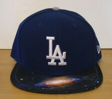 Mens New Era 59FIFTY Los Angeles Dodgers Galaxy Fitted 2 Tone Hat Cap Blue NWT