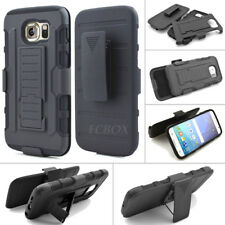 Black Future Armor Hard Stand Case Belt Clip Holster for Samsung Galaxy S & Note
