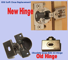 Grass 830 Upgrade Replacement hinges with SOFT CLOSE - Sold as Pairs