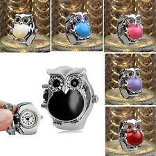 2015 US HOT New Hot Creative Fashion Retro Owl Finger Watch Clamshell Ring Watch