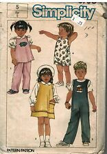 6730 Simplicity Vintage Sewing Pattern Girls Pullover Sundress Jumper Overalls
