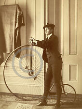 1893 Transgender Man with Tall Bicycle Vintage Photo Frances B Largest Sizes