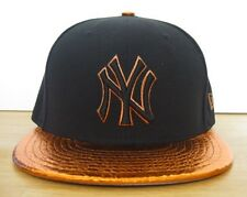 New Era 59FIFTY New York Yankees Metallic Snake Vize Fitted Hat Cap Copper NWT