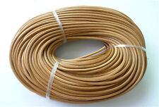 5mm Fashion Natural Brown Real Round Leather Cord 1/5/10 Meters Necklace Making